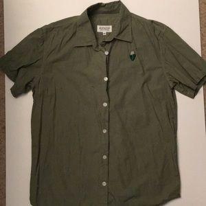 Rip n Dip green button down shirt